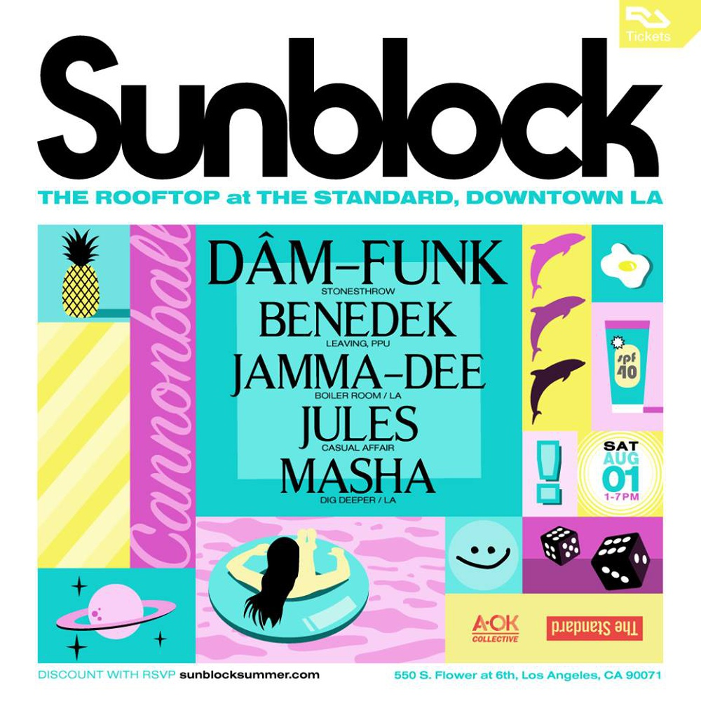 DAM FUNK + BENEDEK + JAMMA-DEE + JULES + MASHA in Los Angeles - Buy tickets online