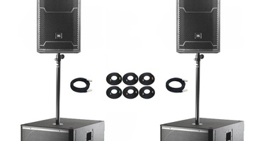 RENTAL: 2 JBL PRX712 Active Speakers + 2 VRX SUBS