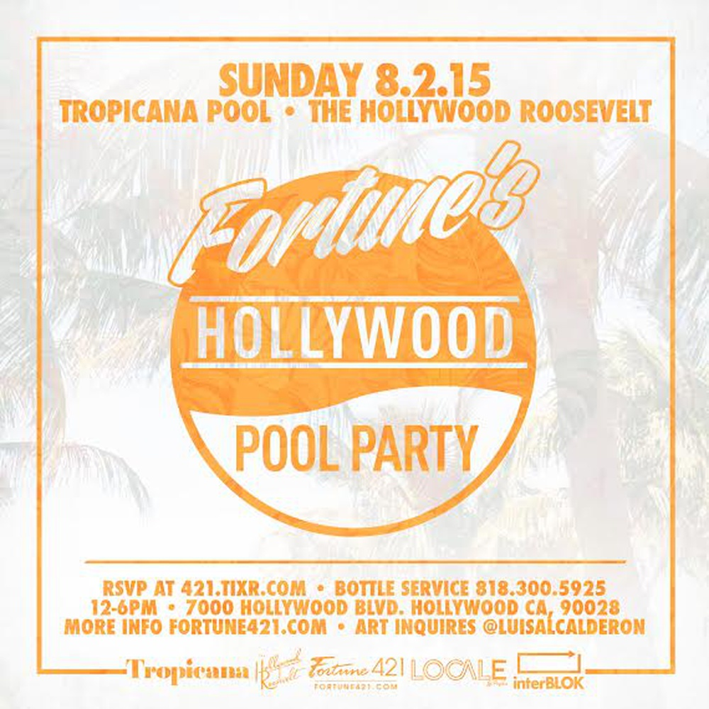 Fortune's Hollywood Pool Party in  - Buy tickets online